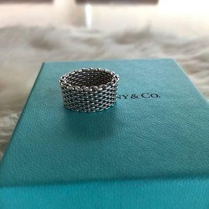 Tiffany & Co. Mesh Somerset Ring Size 6.5